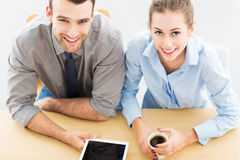 Business people with digital tablet Royalty Free Stock Photos