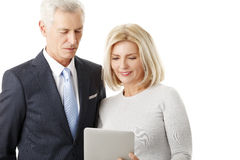 Business people with digital tablet Royalty Free Stock Photo