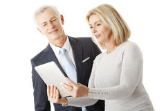 Business people with digital tablet Stock Photos