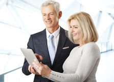 Business people with digital tablet Stock Photo