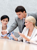 Business people discuss the problems Royalty Free Stock Photo