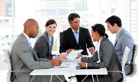 Business people discussing a budget plan Stock Photos