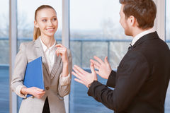 Business people discussing business matters Royalty Free Stock Photo
