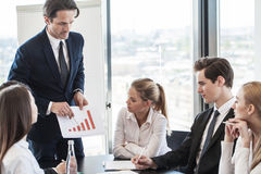 Business people discussing charts Royalty Free Stock Photos