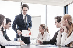 Business people discussing charts Royalty Free Stock Image