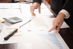 Business people discussing the charts and graphs. Successful teamwork concept Stock Images