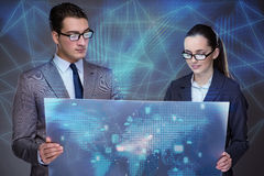 The business people discussing cloud computing Stock Photos