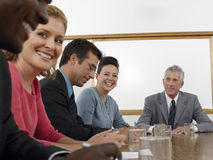 Business People Discussing In Conference Room Stock Images