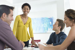 Business People Discussing In Conference Room Royalty Free Stock Image