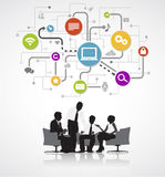 Business People Discussing Data Reloading Concept.  Royalty Free Stock Image