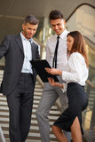 Business people discussing documents and ideas. Business Team Stock Images