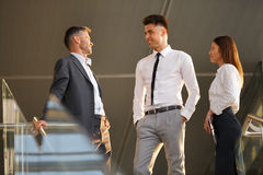 Business people discussing documents and ideas. Business Team Royalty Free Stock Photography