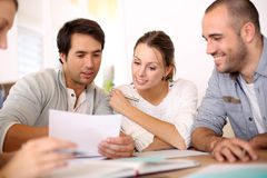 Business people discussing financial budget Royalty Free Stock Image