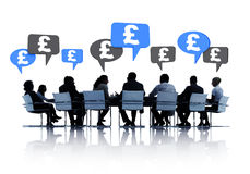 Business People Discussing About Financial Royalty Free Stock Image