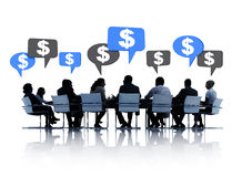 Business People Discussing About Financial Stock Images