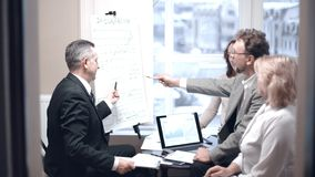 Business people discussing financial profit of the company. royalty free stock photo