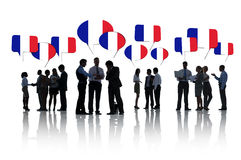 Business People Discussing About France Stock Images
