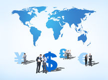 Business People Discussing about Global Finance. Group of Business People Discussing about Global Finance Stock Images