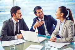 Business people discussing Royalty Free Stock Images
