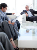 Business people discussing before a job interview Stock Image