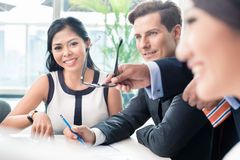 Business people discussing in meeting. Diverse ethnicities Royalty Free Stock Photo