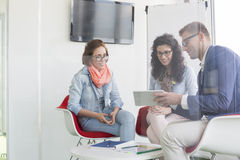 Business people discussing in meeting room Stock Photos