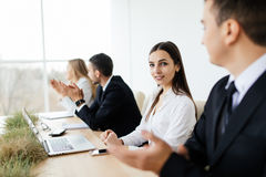 Business people discussing in meeting room Royalty Free Stock Photo