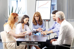 Business people discussing at meeting Stock Photography