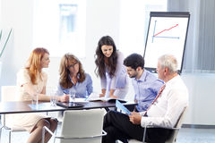 Business people discussing in a meeting Stock Photography