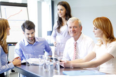 Business people discussing at meeting Royalty Free Stock Photos