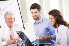 Business people discussing in a meeting Royalty Free Stock Photos