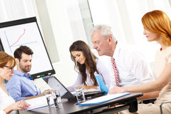 Business people discussing in a meeting Royalty Free Stock Images