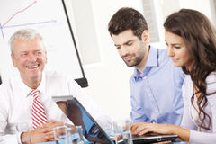 Business people discussing in a meeting Royalty Free Stock Photography
