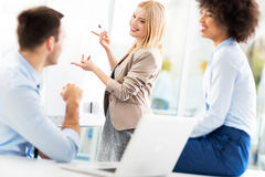 Business people discussing in a meeting Royalty Free Stock Photo