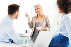 Business people discussing in a meeting Royalty Free Stock Image