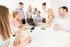 Business people discussing project Royalty Free Stock Photos