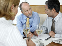 Business People Discussing In Restaurant Stock Photography