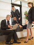 Business people discussing. royalty free stock images