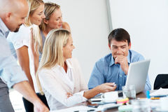 Business people discussing work in a meeting Royalty Free Stock Photography