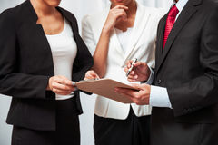Business people discussing work Royalty Free Stock Images