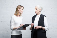 Business people discussing work together Stock Images