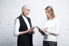 Business people discussing work together Royalty Free Stock Image