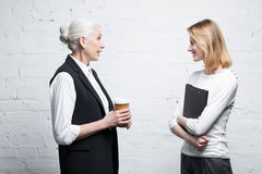 Business people discussing work together Royalty Free Stock Photos