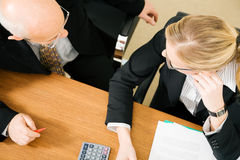 Business people in discussion Stock Images