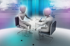 Business people in discussion Royalty Free Stock Photo