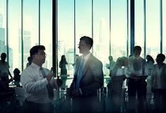 Business People Discussion Communication Cityscape Meeting Conce Royalty Free Stock Images