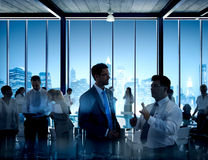 Business People Discussion Communication Cityscape Meeting Conce Royalty Free Stock Photography