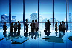 Business People Discussion Communication Cityscape Meeting Royalty Free Stock Images