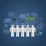 Business people discussion group teamwork idea Stock Photos