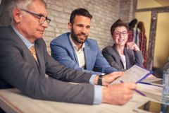 Business people discussion on meeting Royalty Free Stock Image